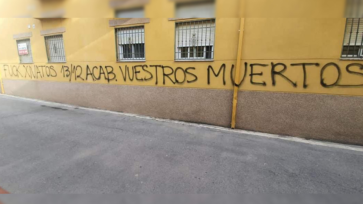 Pintadas amenazantes a la Policía en Las Gabias (Granada).