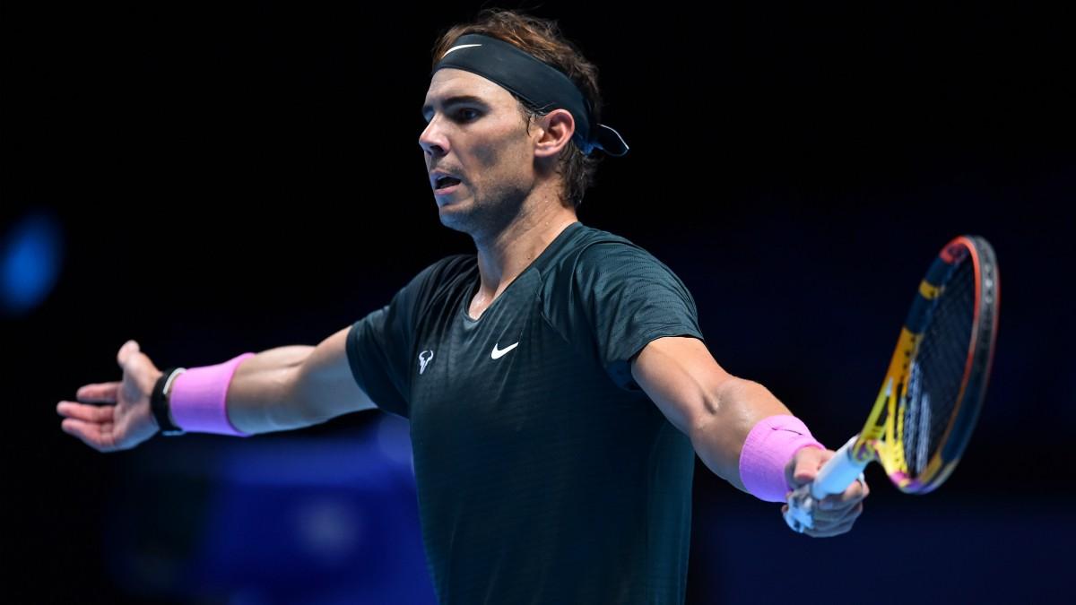 Nadal, en un partido de las ATP Finals. (AFP)