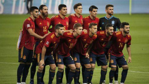 Once inicial de España ante Alemania. (Getty)