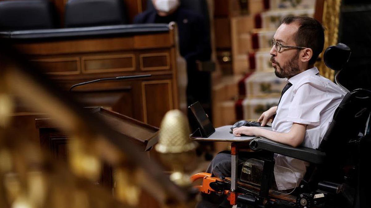 El portavoz de Podemos en el Congreso de los Diputados, Pablo Echenique. (Foto: Europa Press)