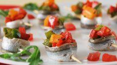Receta de rollitos de sardinas con verduras