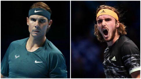 Rafa Nadal y Stefanos Tsitsipas se enfrentan hoy jueves 19 de noviembre en el ATP Finals de Londres.