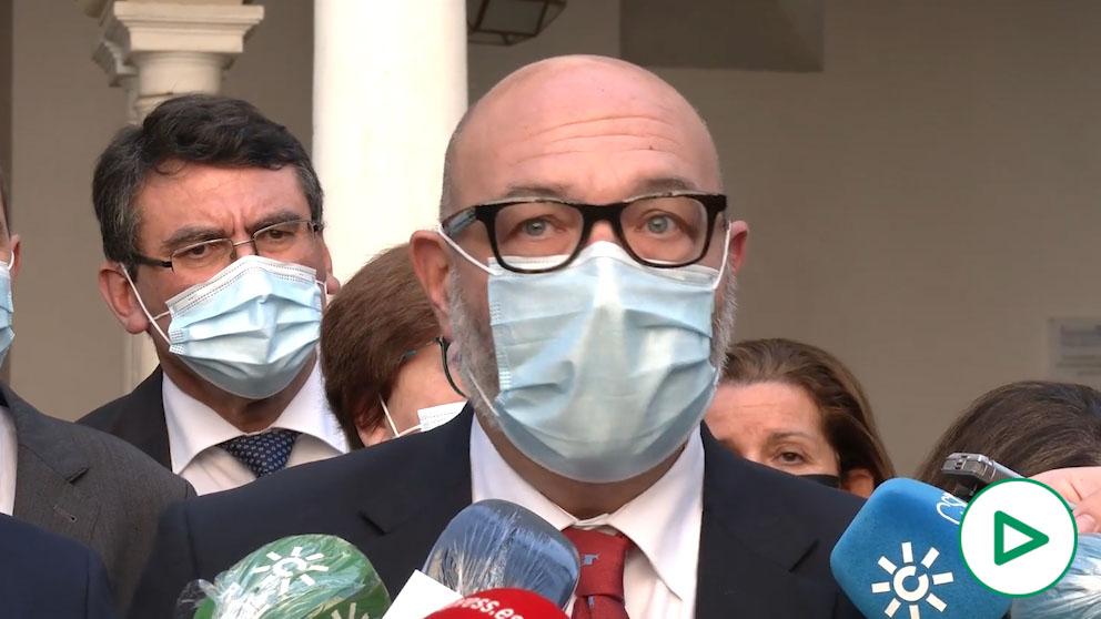Alejandro Hernández, portavoz de VOX en el Parlamento andaluz.