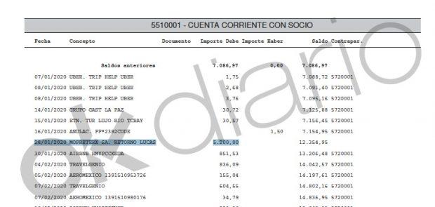 Neurona pagó pagó 5.200 euros a la empresa Mopreterx SA.