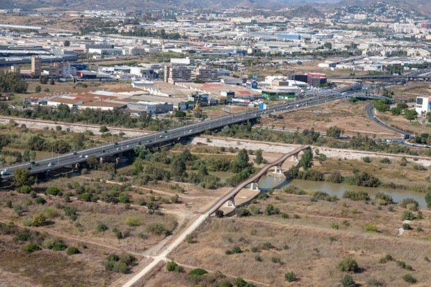 Málaga, y la pasarela de madera más grande de Europa