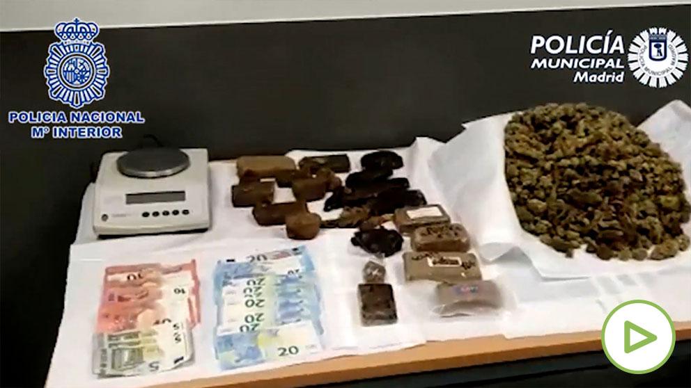 Hachís y Marihuana incautados por la Policía Nacional