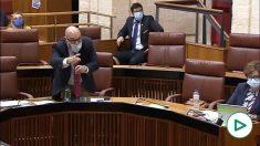 Vox estalla en el Parlamento andaluz y abandona la Cámara tras los ataques de Susana Díaz.