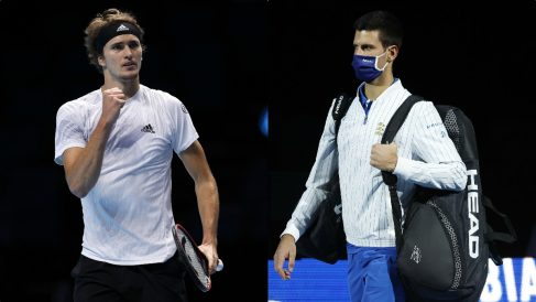 Zverev y Djokovic. (Getty)