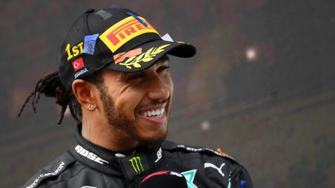 Lewis Hamilton con Mercedes. (AFP)