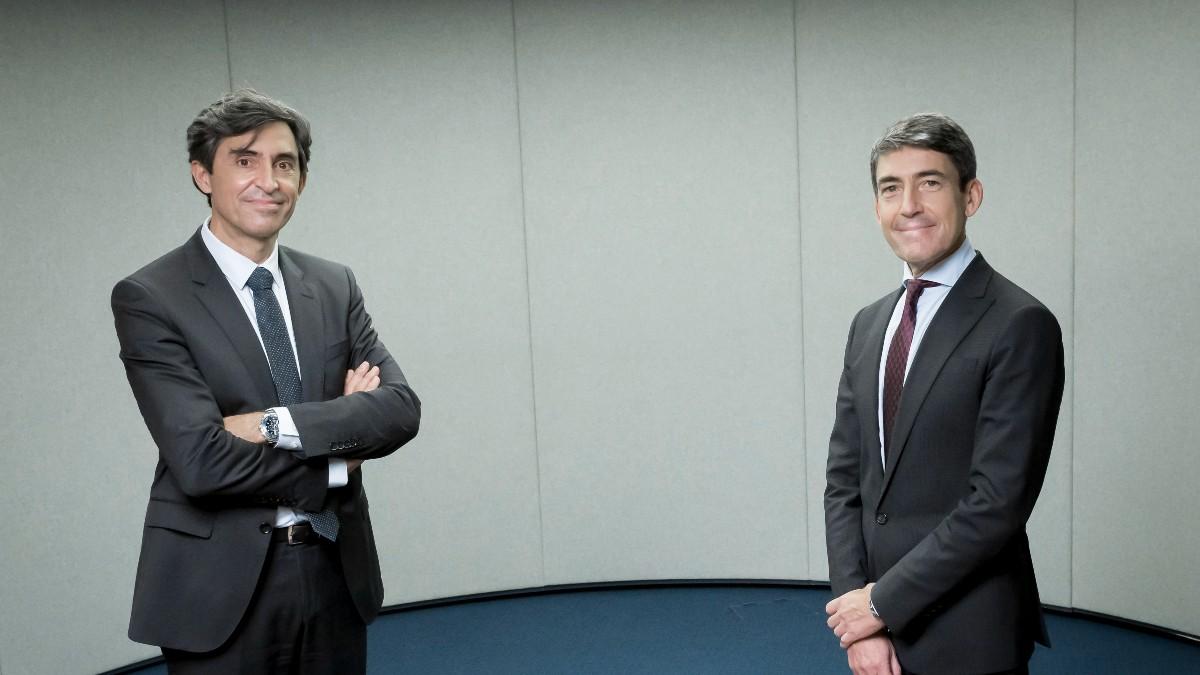 Cesar Cid, consejero delegado de Arca, y Domingo Mirón, presidente de Accenture en España, Portugal e Israel