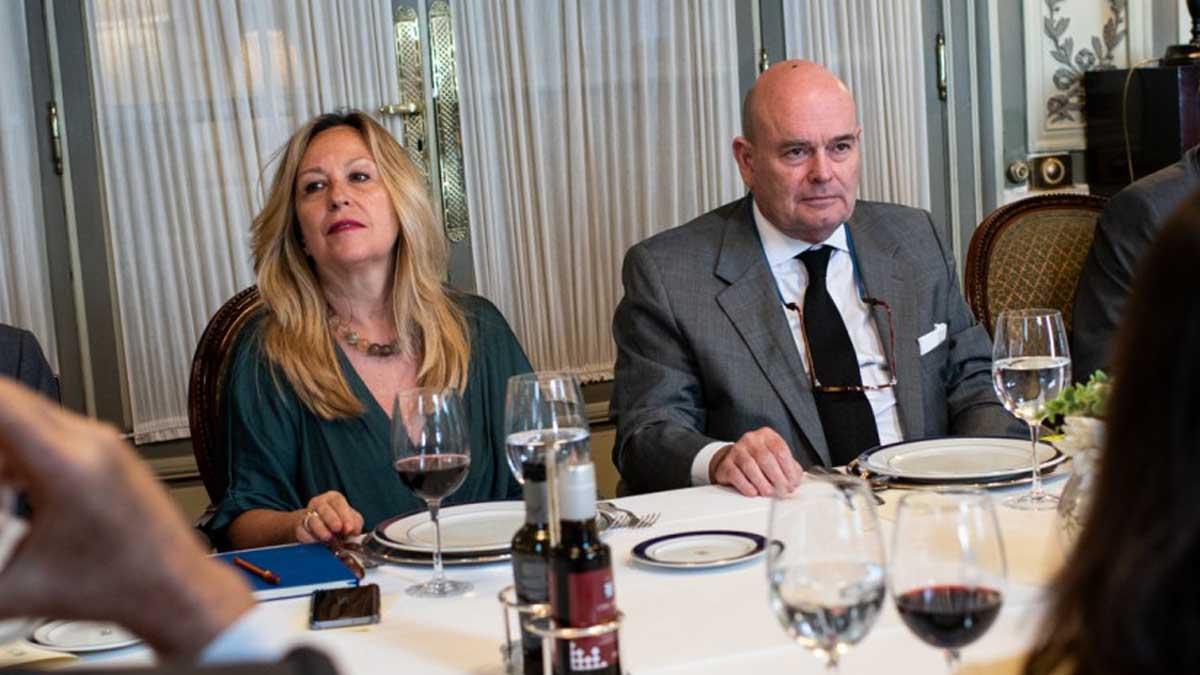 Fernando Villalonga y Trinidad Jiménez. Foto: Fundación Consejo España Brasil