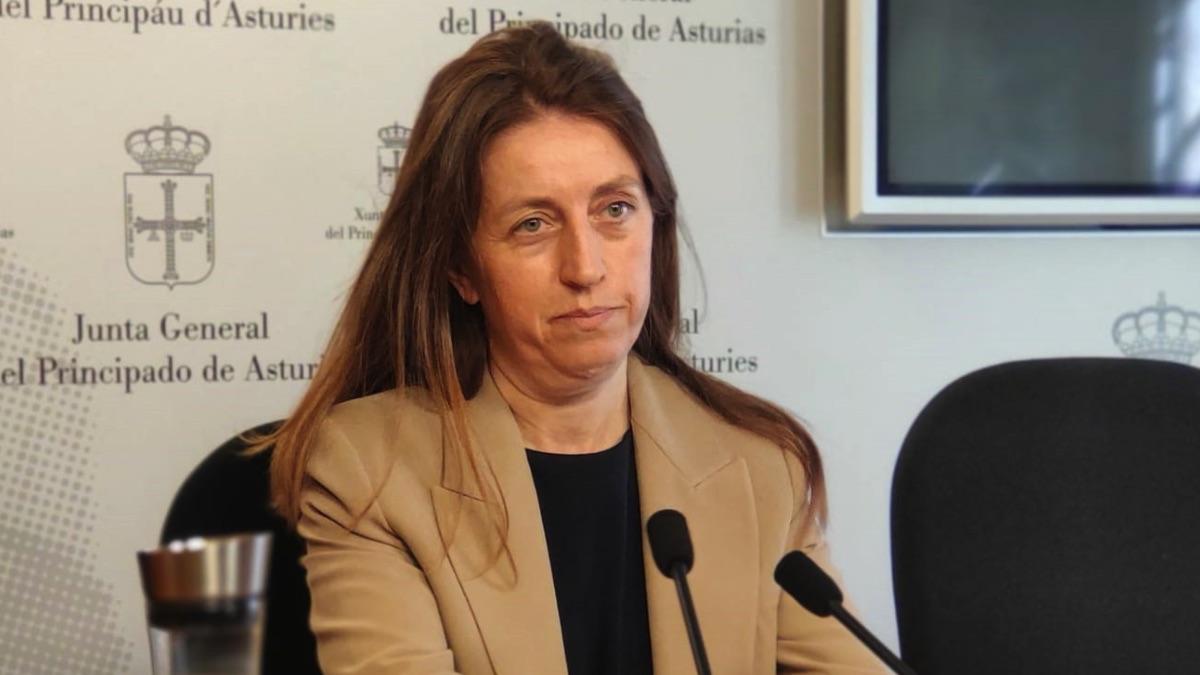 La portavoz de Podemos en la Junta General de Asturias, Lorena Gil. (Foto: Europa Press)