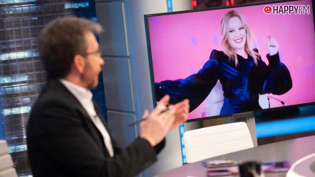 Pablo Motos y Kylie Minogue en 'El Hormiguero'