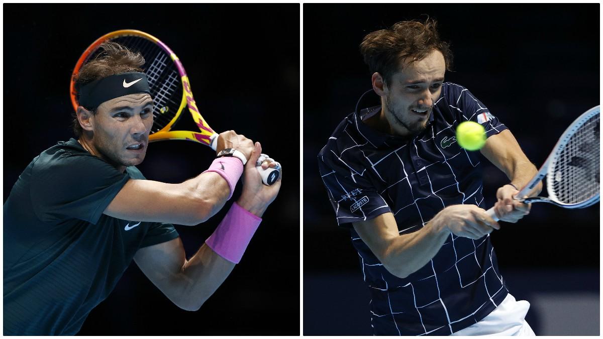 Rafa Nadal y Medvédev se enfrentan en las semifinales de la Copa de Maestros de Londres.