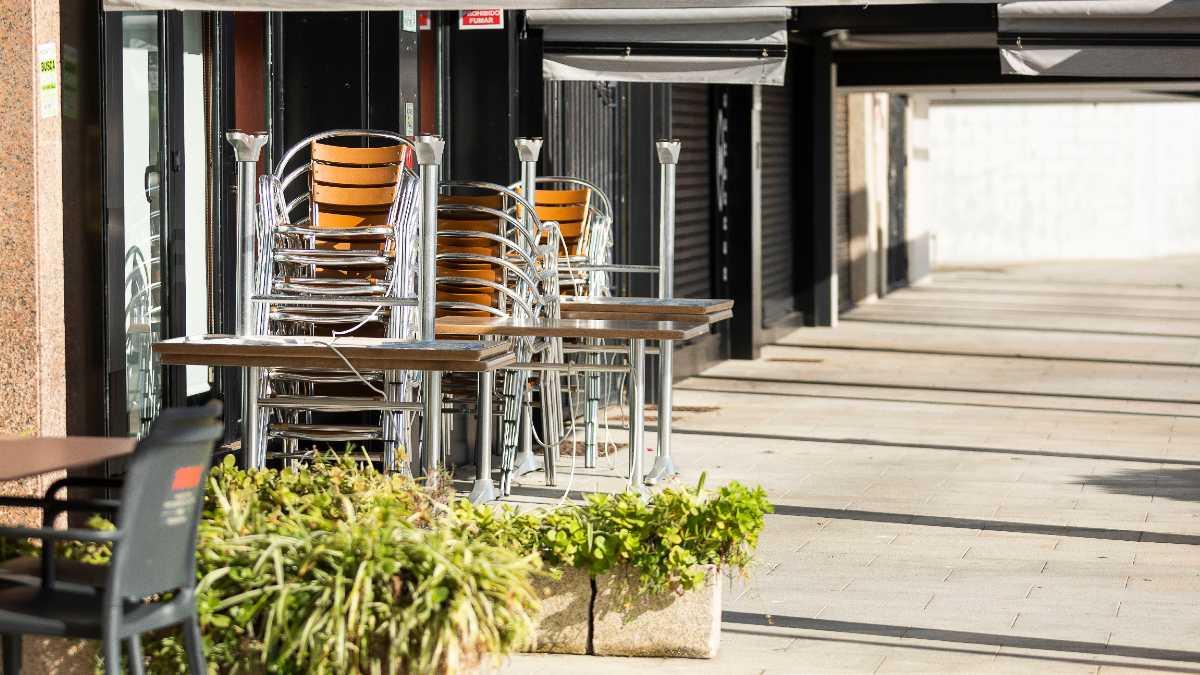 Terraza recogida en un establecimiento de Sanxenxo, Pontevedra, Galicia (España). Foto: EP