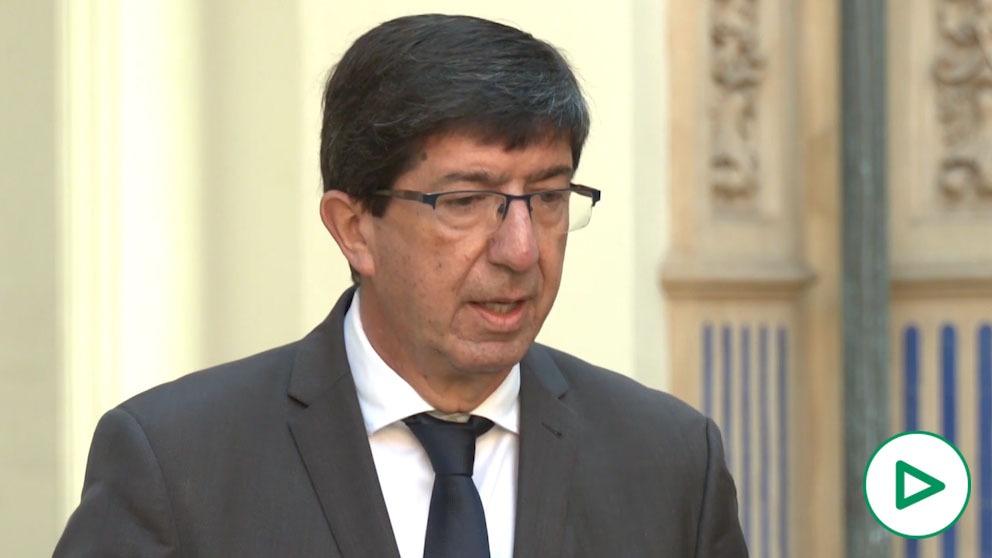 Juan Marín, vicepresidente de la Junta y consejero de Turismo, Regeneración, Justicia y Administración Local.