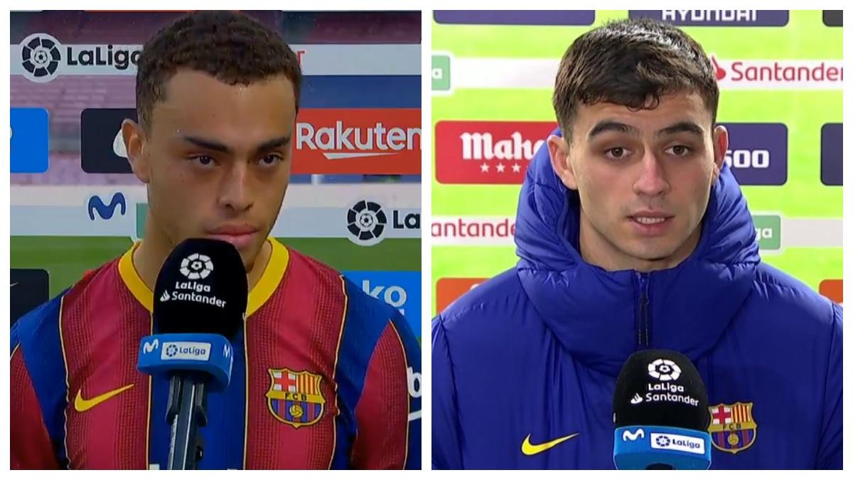 El Barcelona no da la cara en los derrotas y saca a los 'becarios': Dest y Pedri.