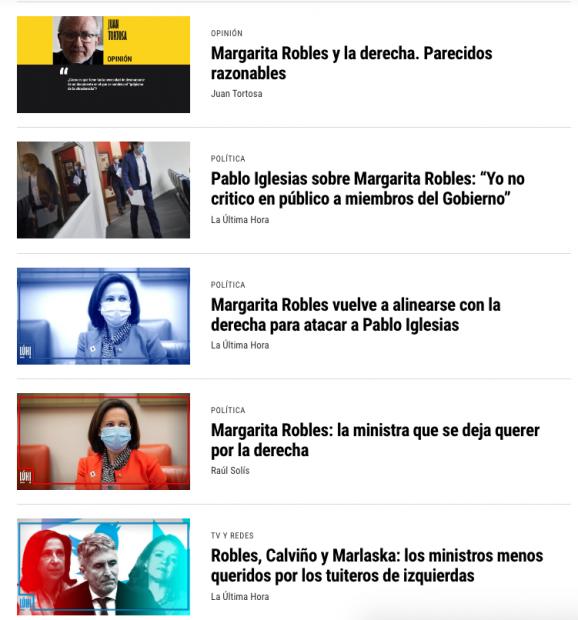 Nadie en el PSOE sale a respaldar a Margarita Robles frente a la campaña de ataques de Podemos