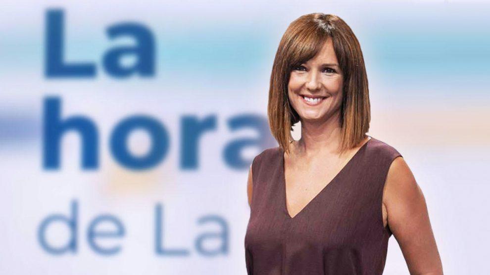Mónica López, presentadora de 'La Hora de La 1' de TVE.