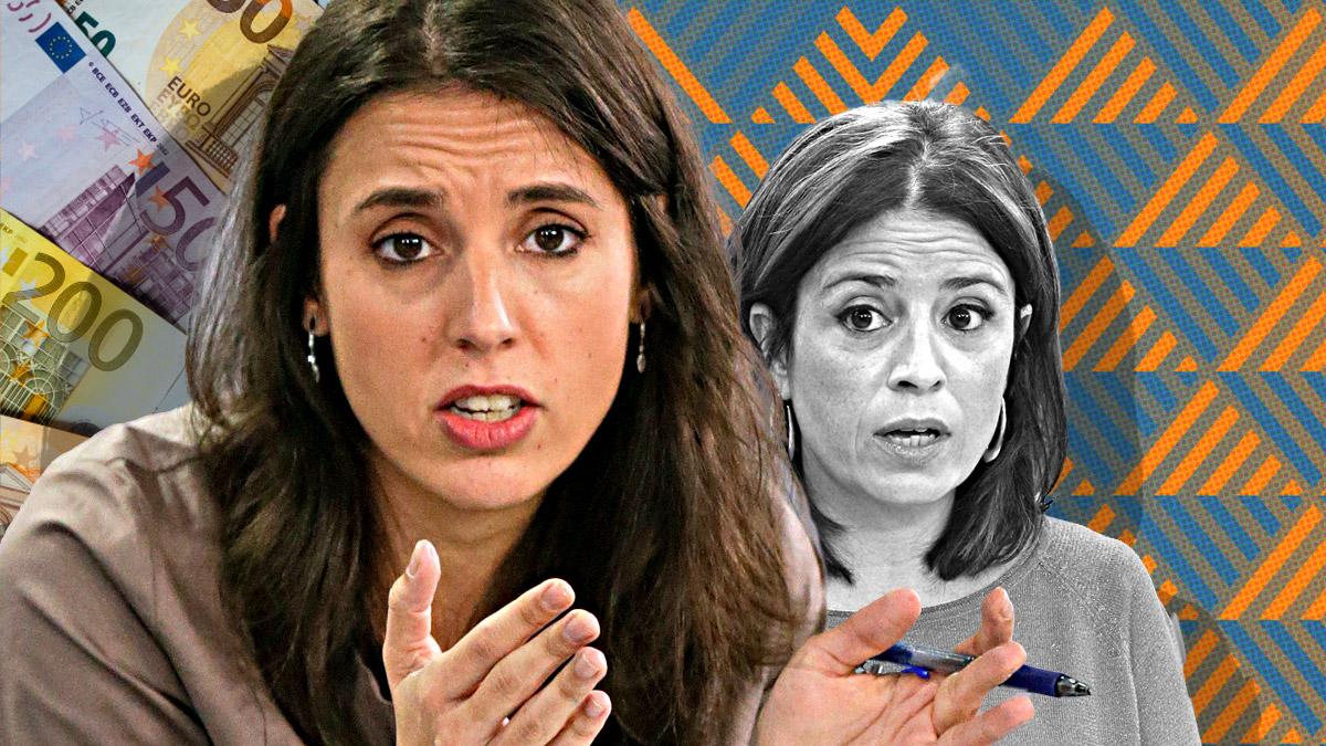 Irene Montero, de Unidas Podemos, y la socialista Adriana Lastra.