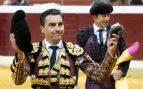Octavio Chacón corta la única oreja en una buena tarde de 'victorinos' en Logroño