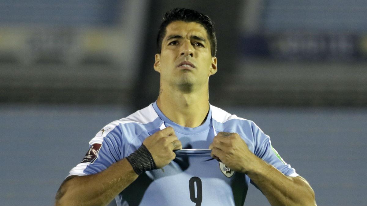 Luis Suárez, con la selección uruguaya. (Getty)