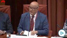 El comisario Marcelino Martín Blas en el Parlament.
