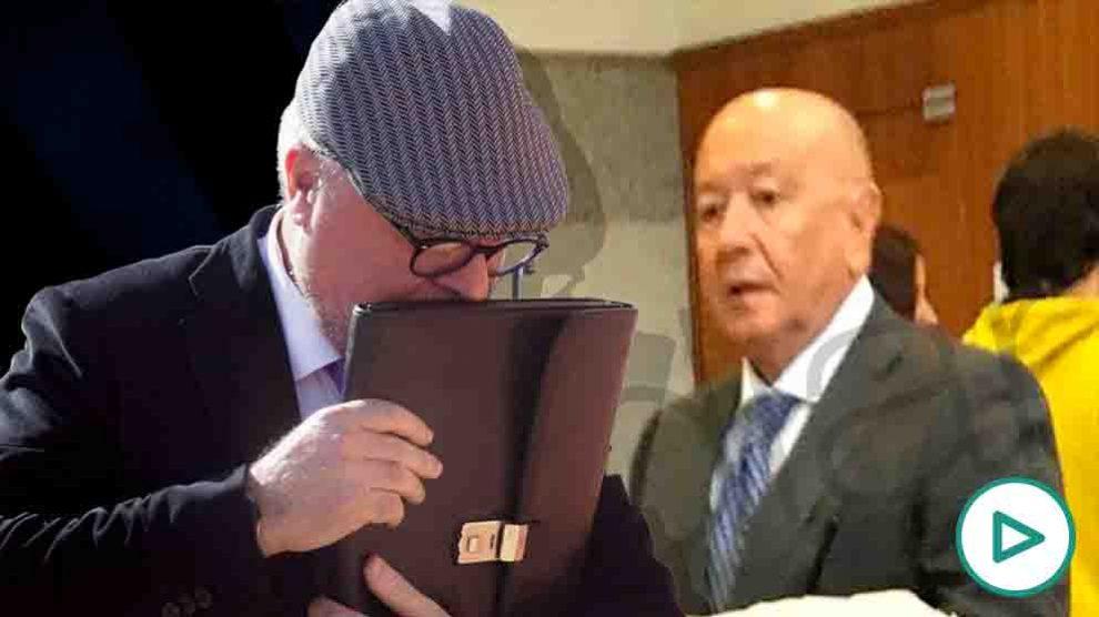 El comisario Marcelino Martín Blas habla con Villarejo.