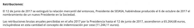 Sánchez 'enchufa' en la pública Seiasa al político que ya estuvo hasta 2011 y cobró 114.000 € de indemnización