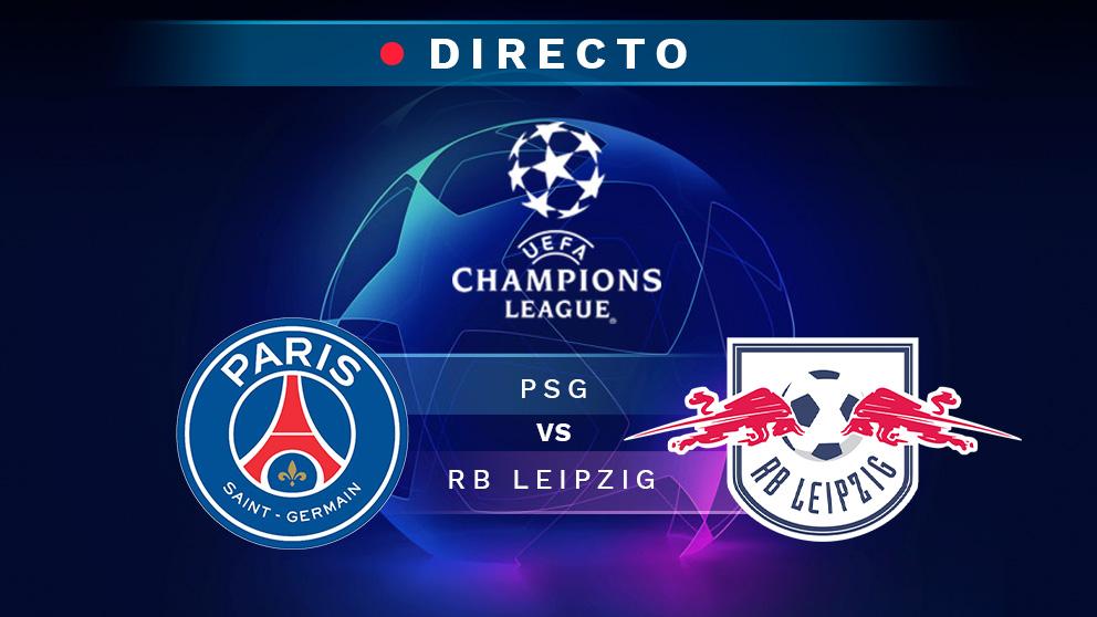 PSG – Leipzig: partido de la Champions League.