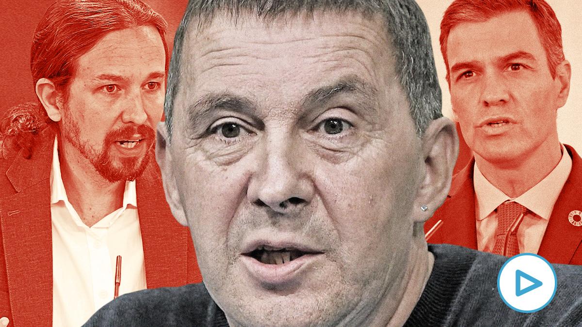 Arnaldo Otegi, Pablo Iglesias y Pedro Sánchez