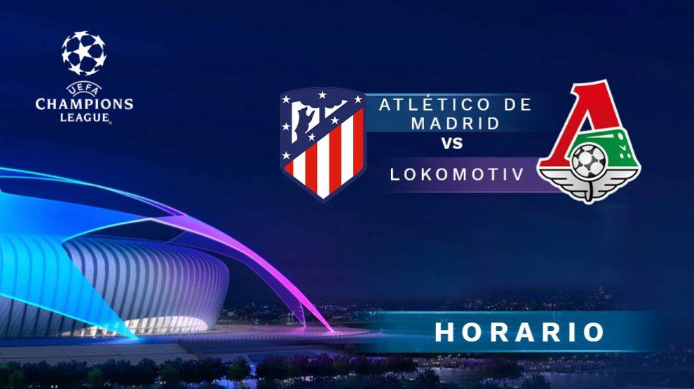 Atlético de Madrid – Lokomotiv: partido de la Champions League.