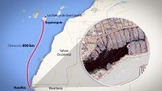La ruta de los cayucos desde Mauritania.