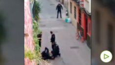 Tiroteado un hombre en Zaragoza tras encañonar a cuatro policías que le pidieron identificarse.