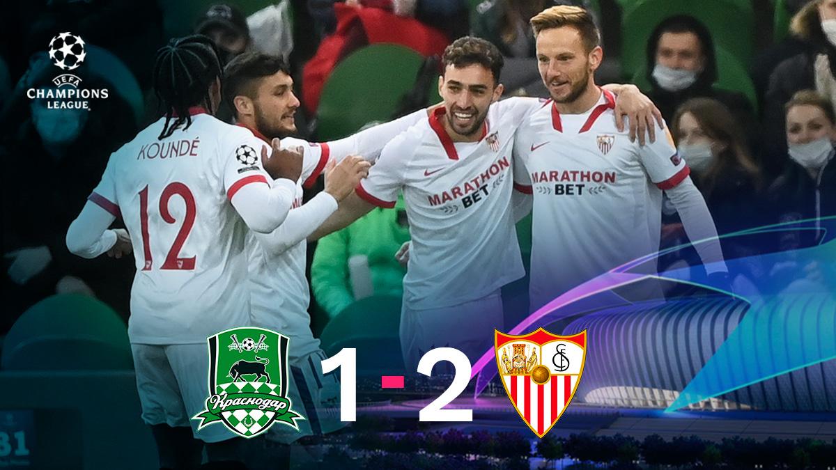 El Sevilla ya está en octavos de la Champions League.