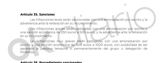 Documento aportado por Podemos al juez