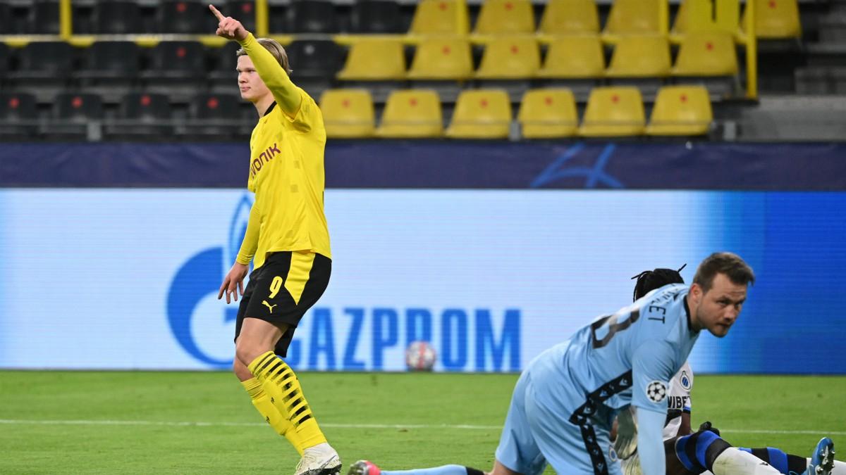 Haaland celebra un gol con el Dortmund. (AFP)