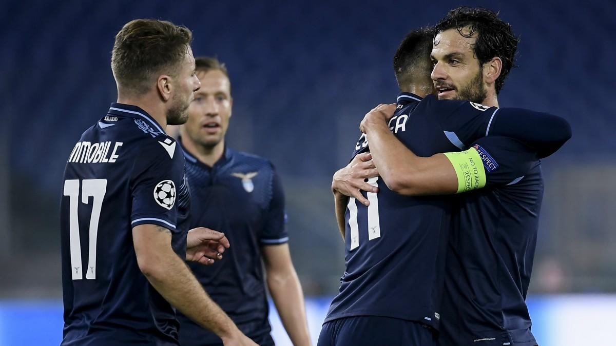 El Lazio venció al Zenit en Roma. (AFP)