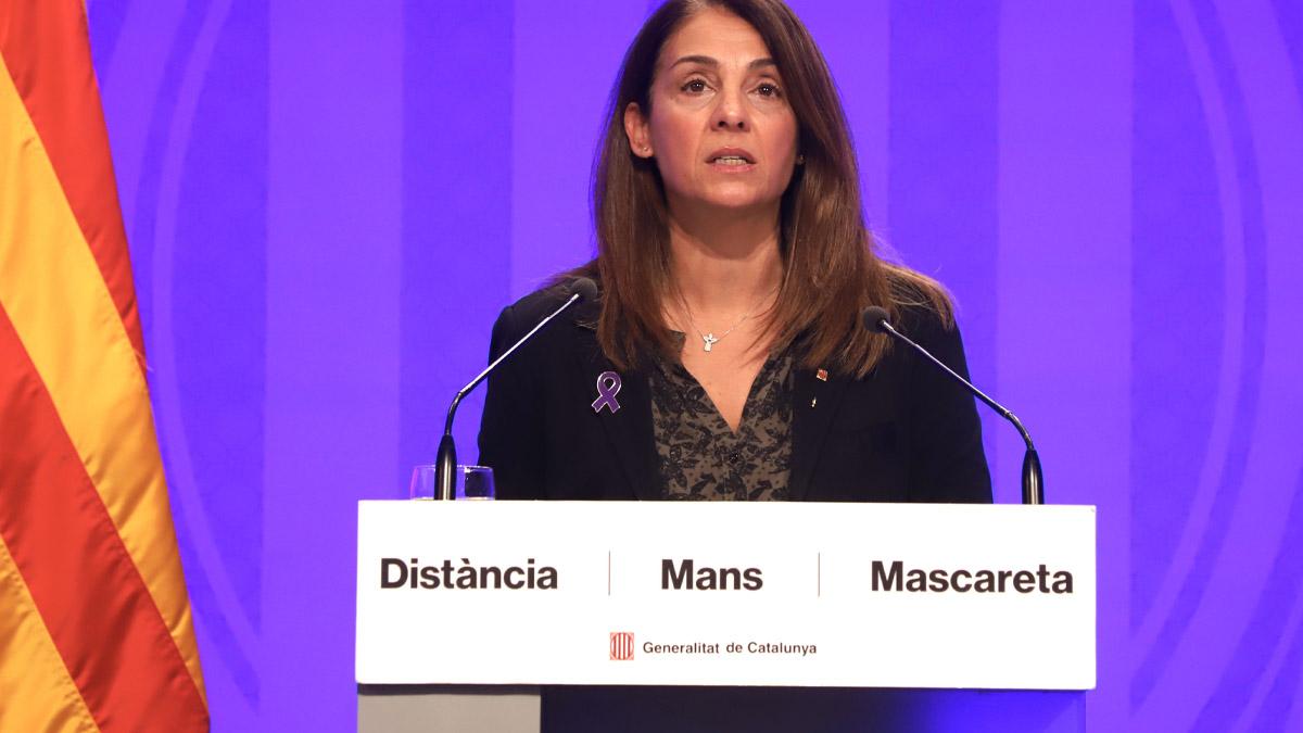 La consellera de Presidencia y portavoz de la Generalitat, Meritxell Budó (Foto: Europa Press).