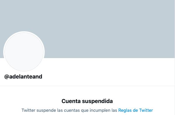 Twitter censura la cuenta de Adelante Andalucía