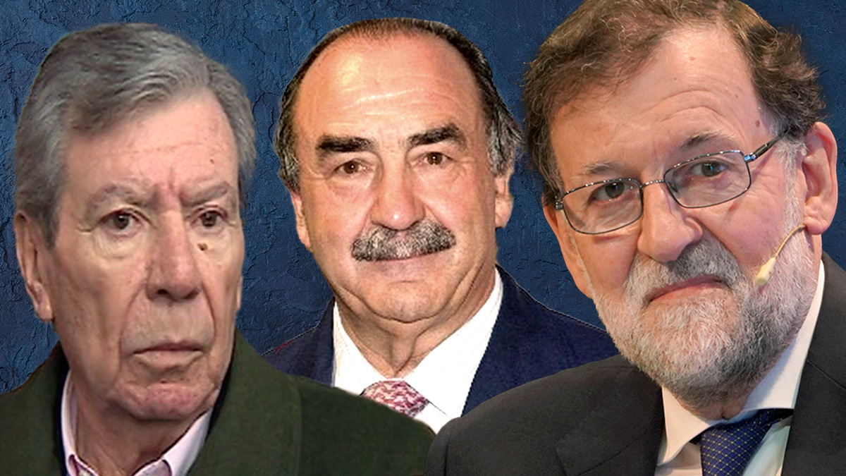 Mariano Rajoy, José Luis Corcuera y Blas Herrero