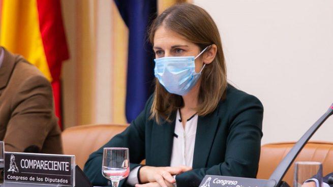 La candidata a presidir el FROB, Paula Conthe Calvo, comparece la comisión de asuntos económicos del Congreso de los Diputados.