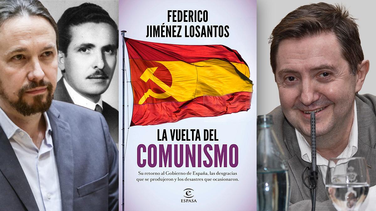 Jiménez Losantos y su libro 'La vuelta del comunismo' donde trata el pasado franquista del abuelo de Iglesias.