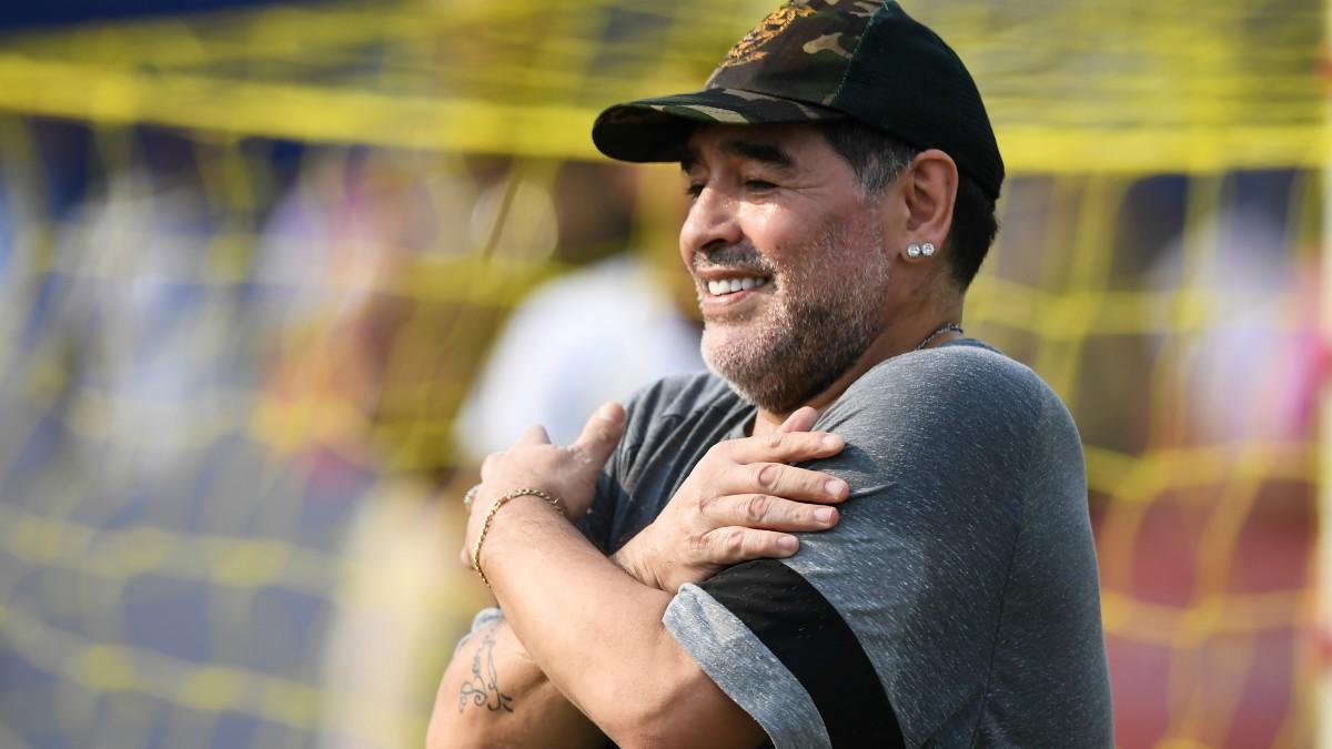 Diego Maradona, en una de sus últimas apariciones. (AFP)