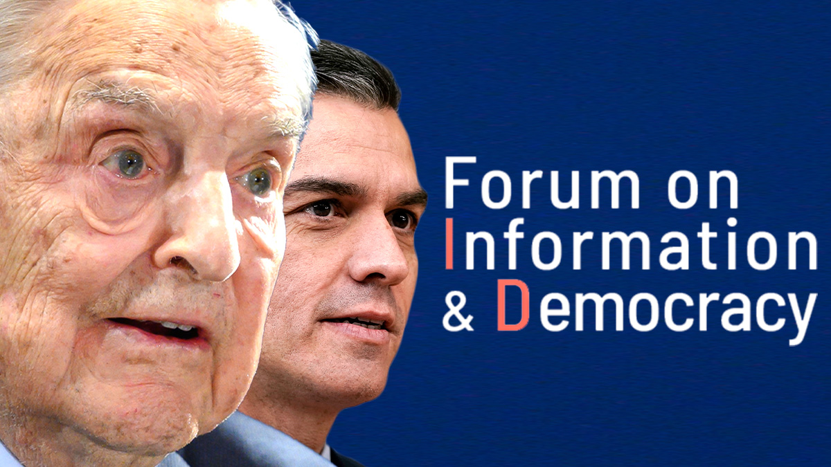 George Soros y Pedro Sánchez.