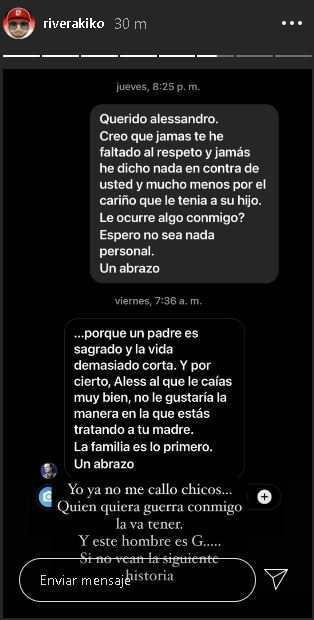 Kiko Rivera deja en evidencia a Alessandro Lequio al hacer públicos estos mensajes