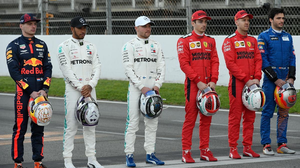 Pilotos de Fórmula 1. (AFP)