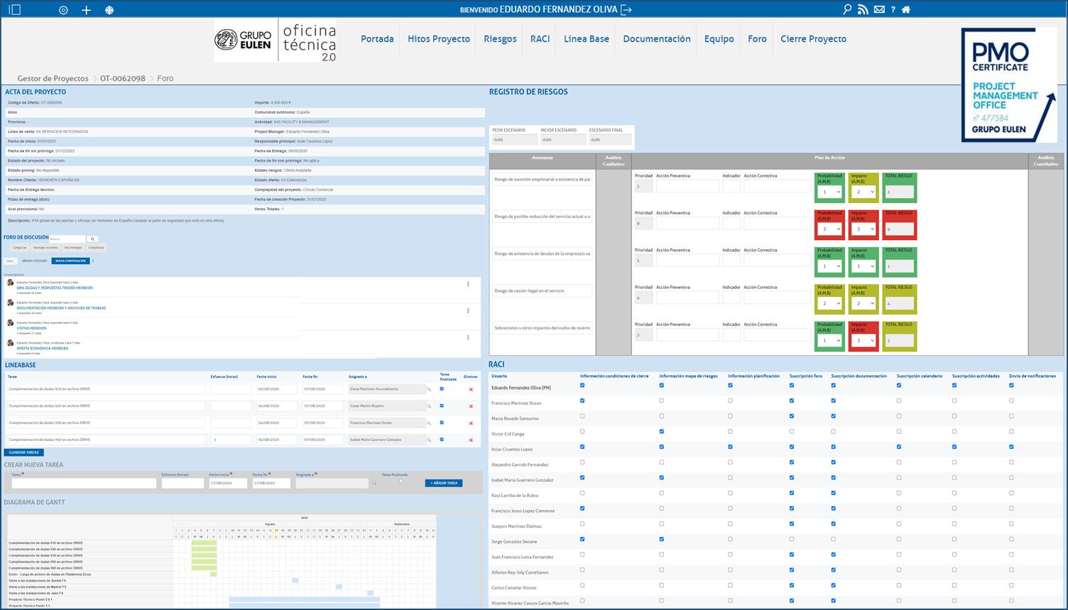 El Grupo Eulen consolida su sistema de gestión de ofertas PMO
