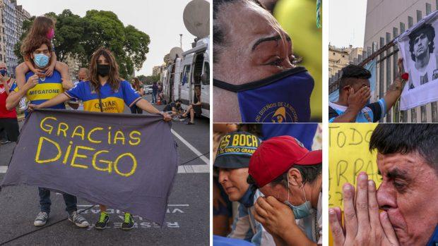 Maradona, última hora de la capilla ardiente y el traslado del féretro tras la muerte de 'El Pelusa' en directo