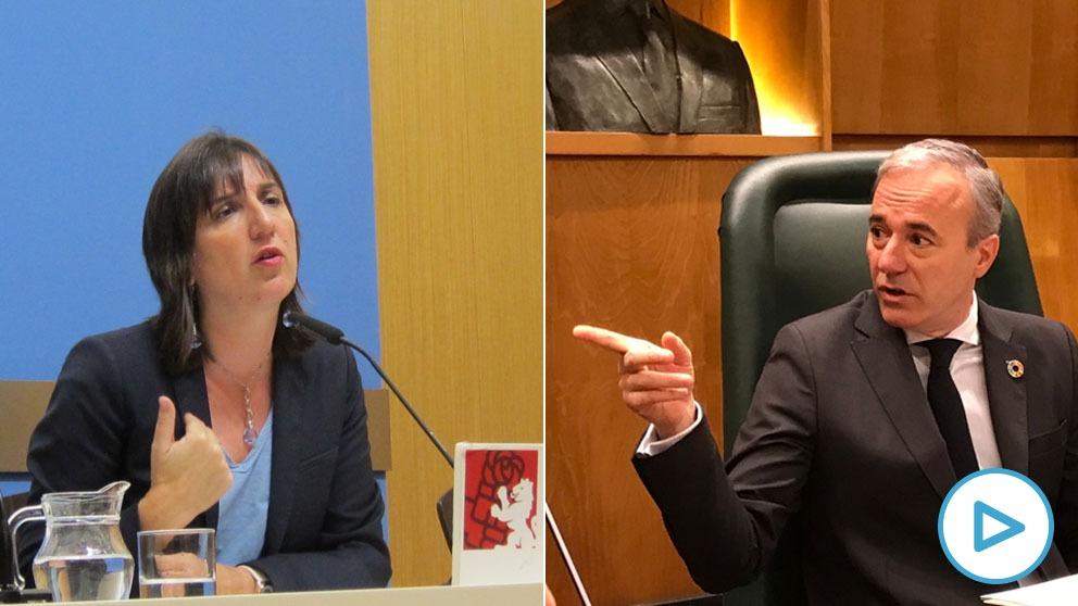 Lola Ranera y Jorge Azcón